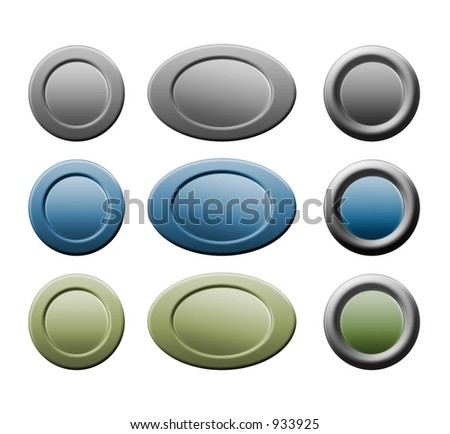 blue, green and grey button on transparent GIF