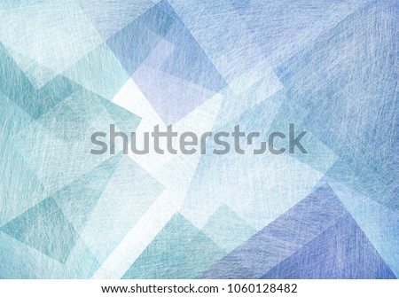 blue green and white squares diamonds and overlapping transparent transparent shapes on light pastel background, polygon geometric design in modern art style backdrop with texture