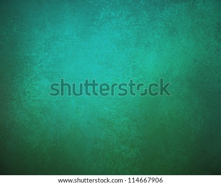 blue green background with dark vintage grunge background texture and frame border, elegant teal background with shabby chic distressed paper for book design or brochure layout or web background wall