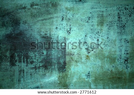 Blue Green Grunge Background