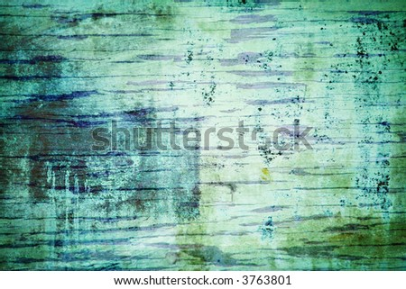 Blue Green Grunge Background - stock photo