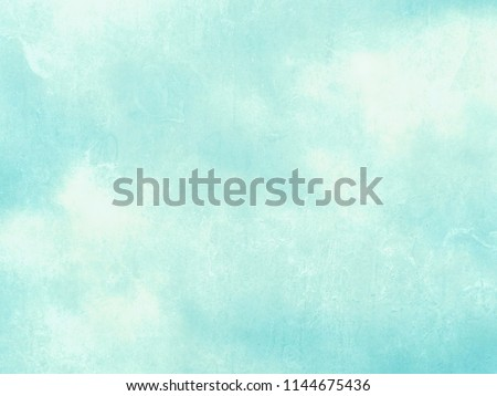 Blue green watercolor background - abstract pastel sky texture