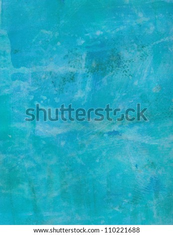 Blue grunge abstract textured background. Hand painted.