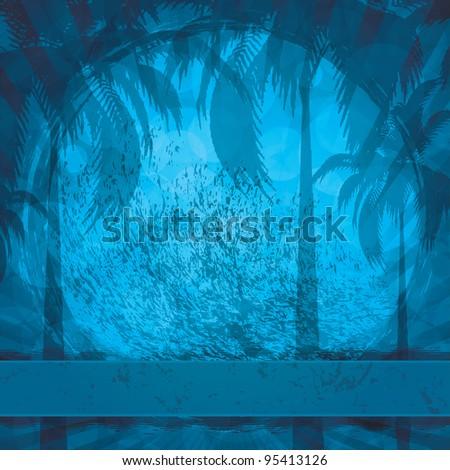 Blue grunge summer holiday background