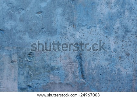 blue grunge wall background for multiple uses