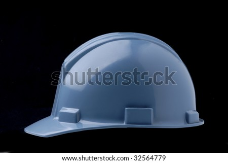 Blue Hard Hat - Side View
