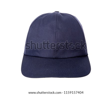 4023cf3502d Blue hat isolated on white background.