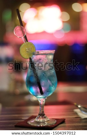 Blue Hawaii cocktail drinking drinking water