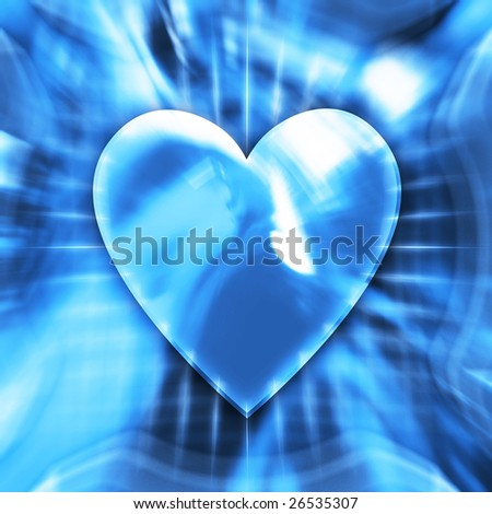 Blue heart symbol conceptual illustration