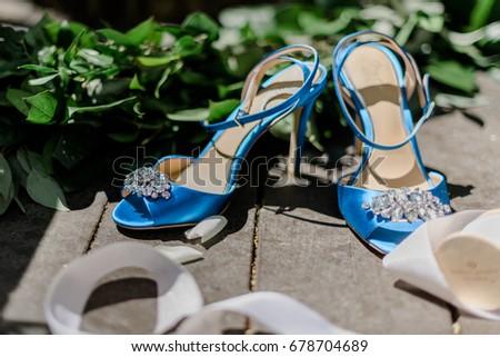 blue heels, stiletto #678704689