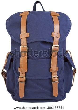 blue hipster backpack