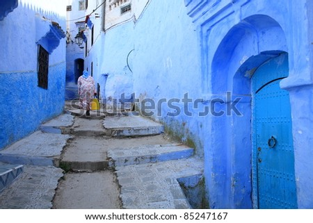 blue home in Morocco/Housewife