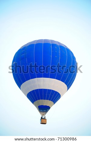 Blue hot air balloon in Thailand.