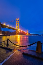 Blue hour from Fort Point in San Francisco