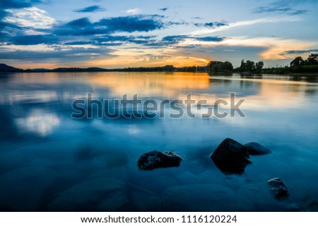 blue hour lake constance #1116120224