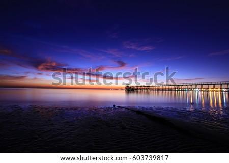 blue hour sunrise #603739817