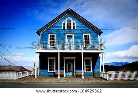 Blue House in Virginia City Nevada