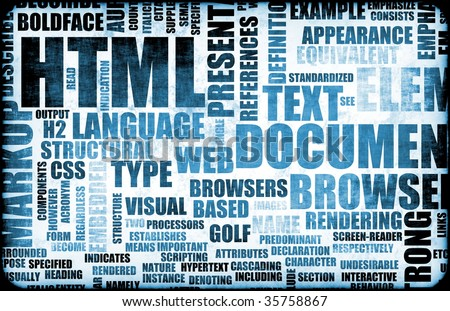 Blue HTML Script Code as an Background