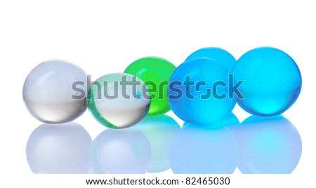 blue hydrogel isolated on white