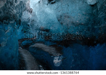Blue ice Cave in Iceland #1361388764