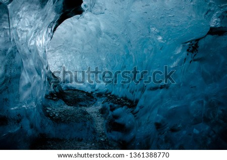Blue ice Cave in Iceland #1361388770