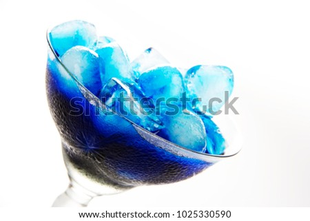 Blue Ice Cubes  #1025330590