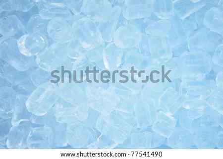 blue Ice cubes background