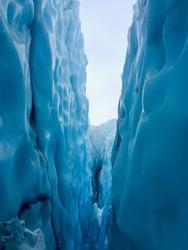 blue ice in glacier park