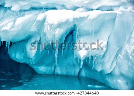 Blue Ice over water #427344640