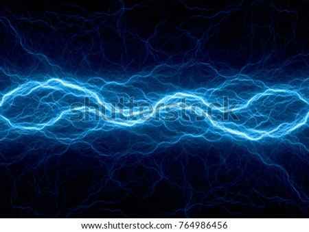 Blue ice plasma lightning, abstract electrical background