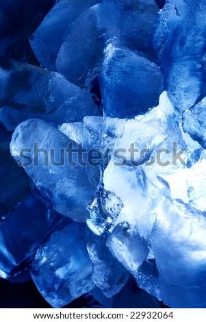 blue ice vertical