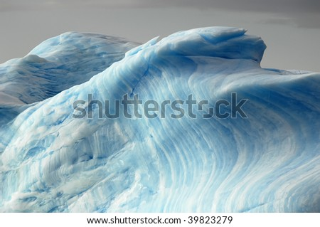 Blue iceberg layers