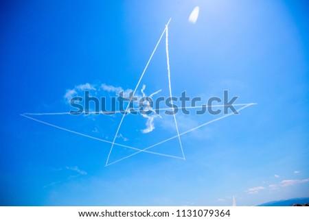 Blue impulse exhibition flight #1131079364
