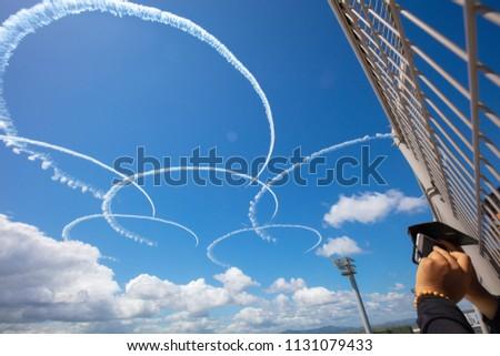 Blue impulse exhibition flight #1131079433