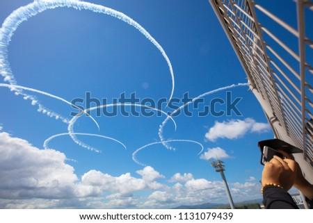 Blue impulse exhibition flight #1131079439