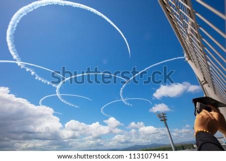 Blue impulse exhibition flight #1131079451