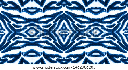 Blue indigo seamless dirty art watercolor pattern. Rough paper texture. Textile print seamless pattern. Ink painting. Artwork fragment. Grunge style backdrop. Naive art drawing.