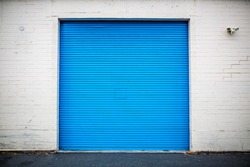 Blue Industrial Roll Up Door