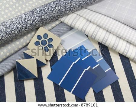 Blue interior decoration plan