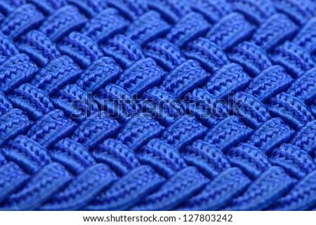 Blue Interwoven Fabric Texture #127803242