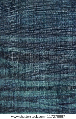 Blue jean background or texture
