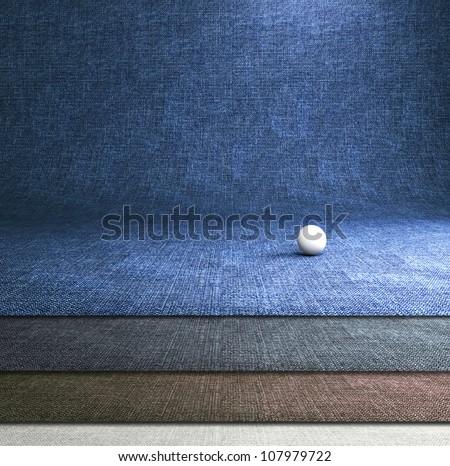 Blue jeans dark background. Professional photo studio background.