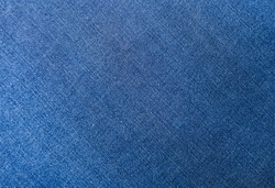 Blue jeans fabric denim texture background.