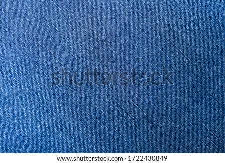 Blue jeans fabric denim texture background.     Stockfoto ©