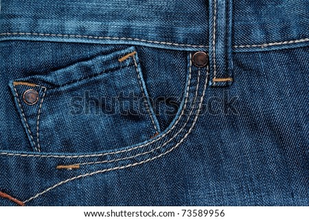 blue jeans front pocket