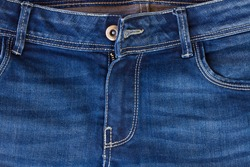 blue jeans pocket and zipper