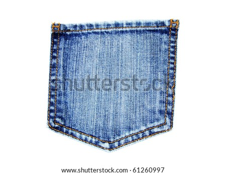 blue jeans pocket isolated