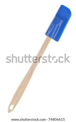 Blue Kitchen Spatula Isolated on White with a Clipping Path.