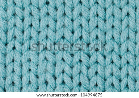Blue knitted wool texture can use as background.