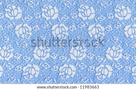 blue lace with white flowers